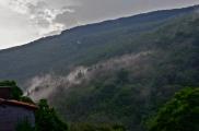 Mist through mountains, Labastide Esparbairenque