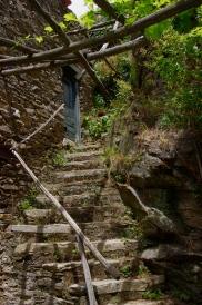 Village detail, stairs, Labastide Esparbairenque