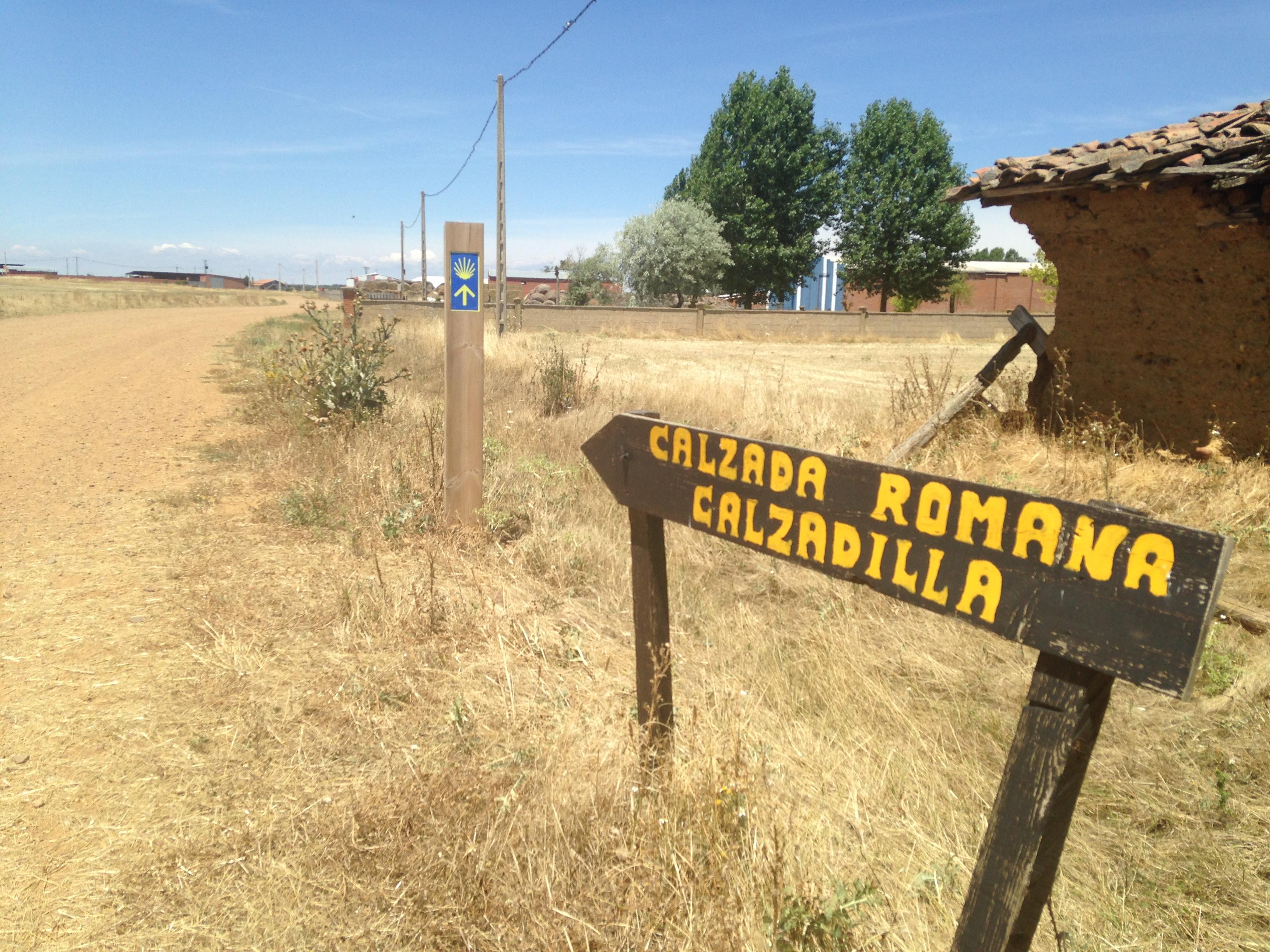 old roman road, camino de santiago
