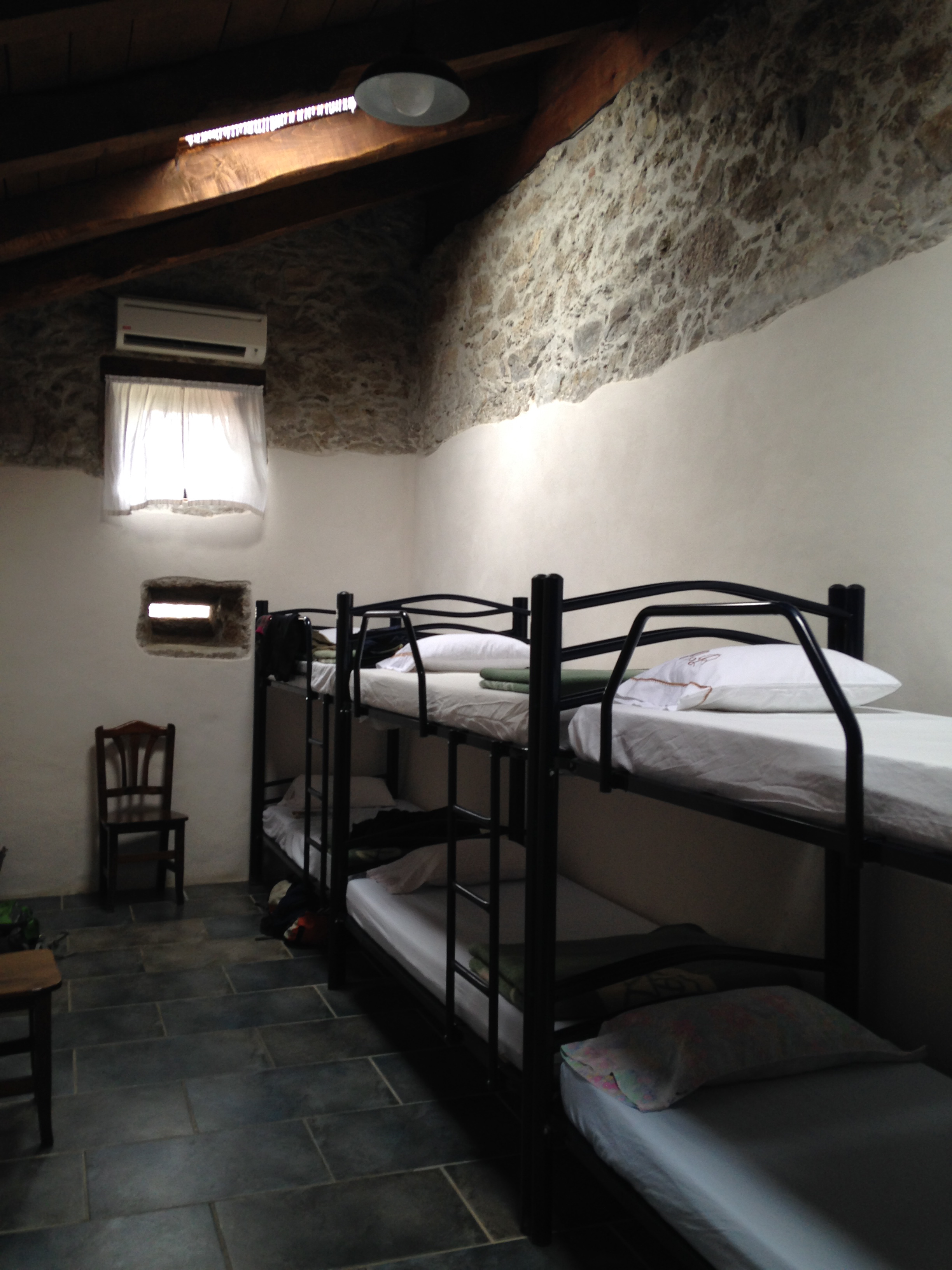 bunk beds in an albergue