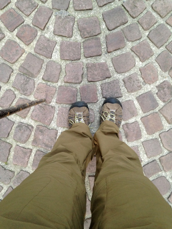 first steps out of St Jean Pied de Port, France