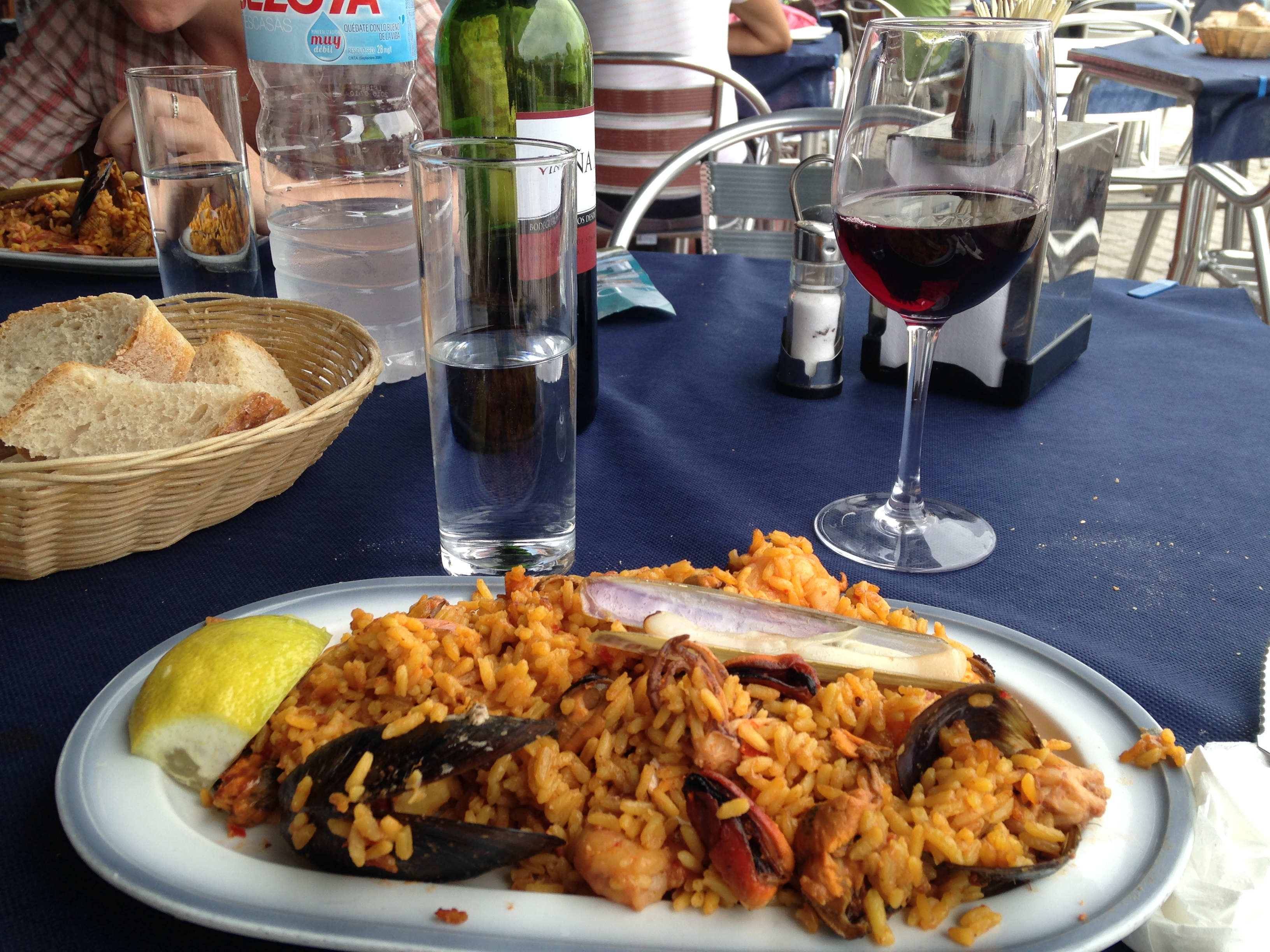 Paella lunch, Finisterre, Spain