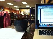 cafe writing