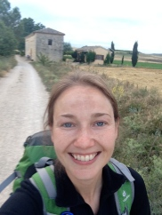 Selfie leaving San Nicolas, Camino de Santiago