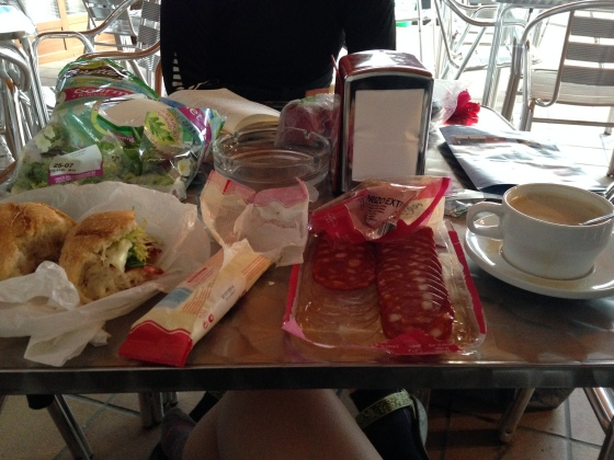 Lunch on the Camino