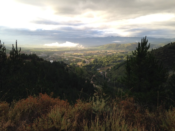 View from Dragonte route, Camino de Santiago
