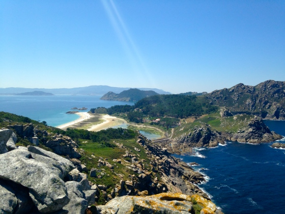 Islas Cies, from Alto do Principe