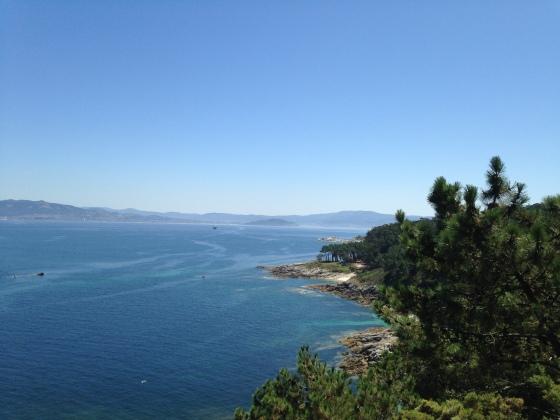 View from trail, Islas Cies