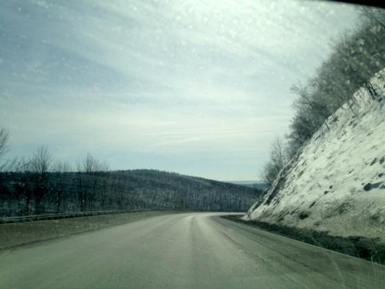 Winter drive through PA
