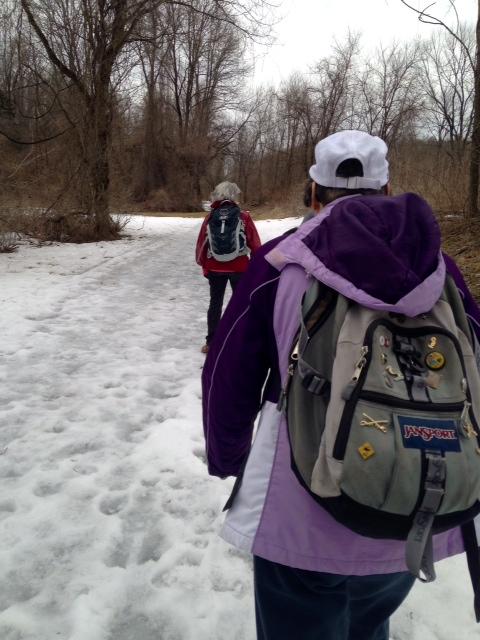 APOC walk, snow