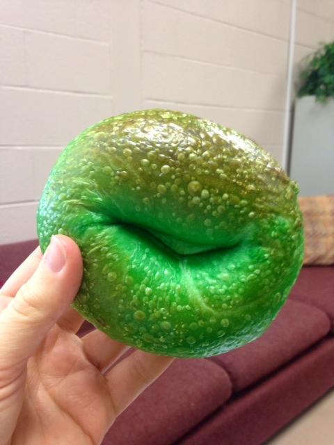 Green bagel!