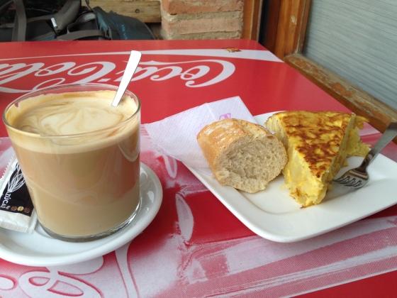 Camino breakfast