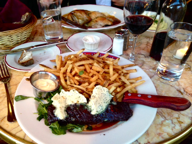 steak frites, le diplomate, washington dc