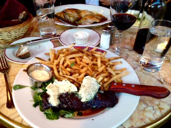 steak frites, le diplomate, washington dc
