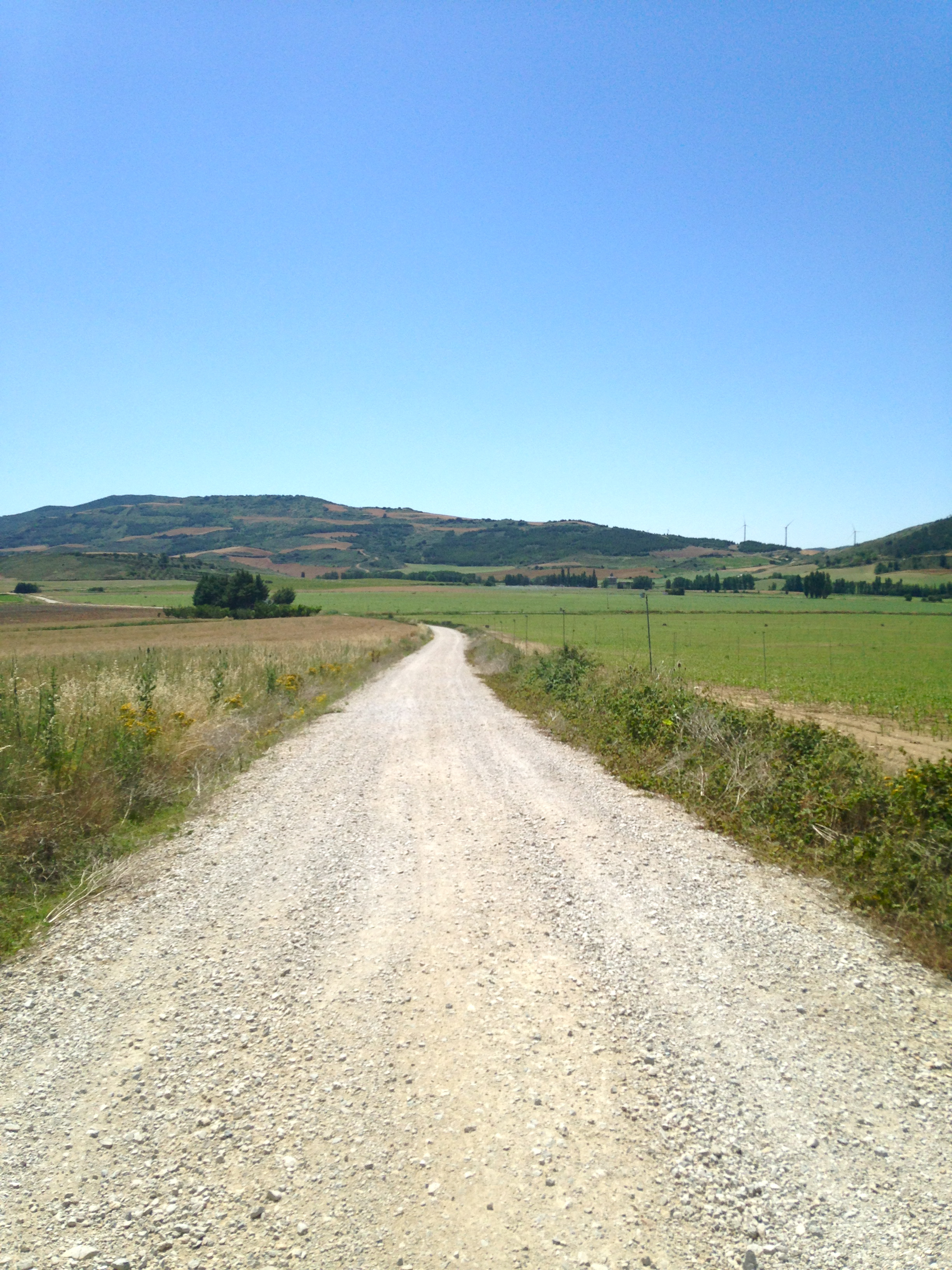 The road to Eunate, Camino de Santiago