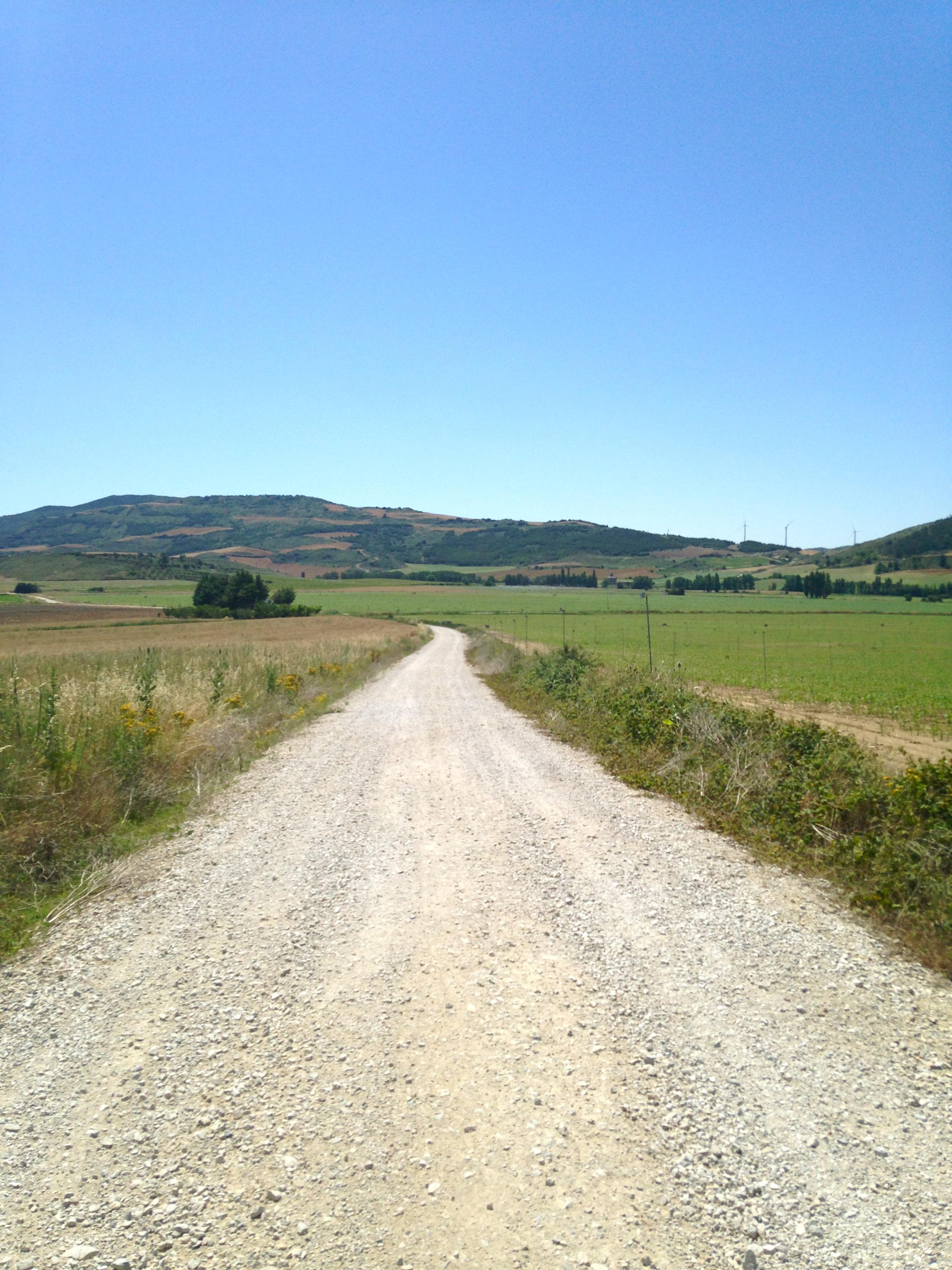 The road to Eunate, Camino de Santiago