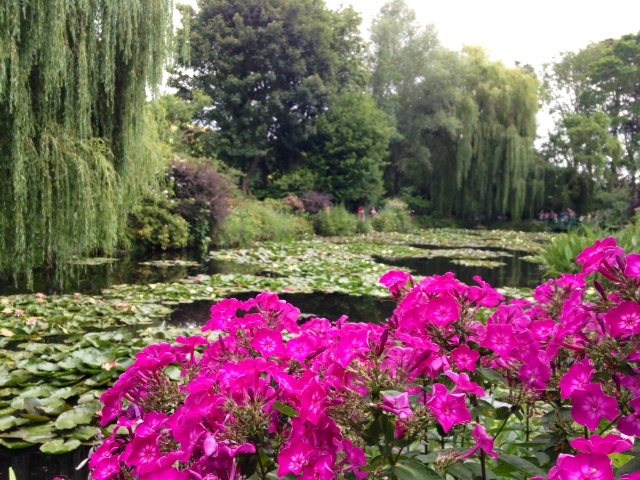 Flowers and pond, Giverny, France