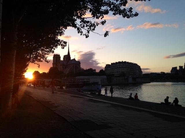 Notre Dame, sunset