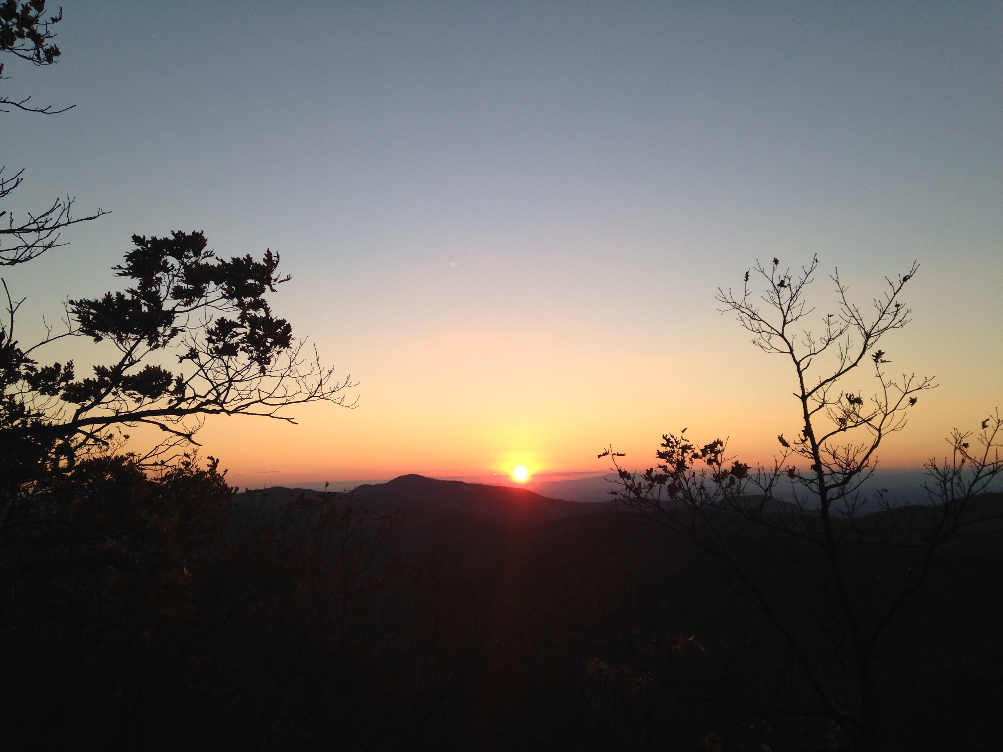 sunset, shenandoah national park, virginia