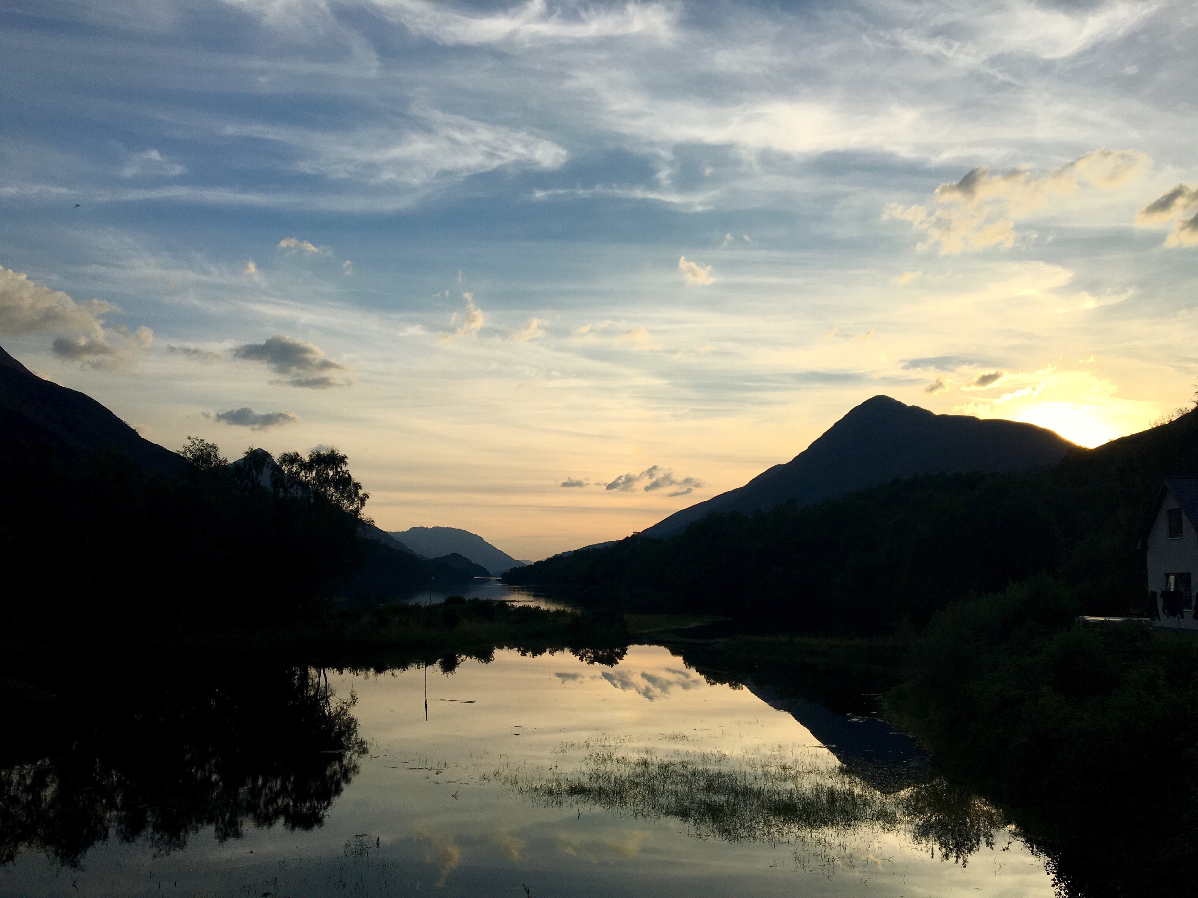 View from deck of the Bothy Bar, Kinlochleven, Scotland